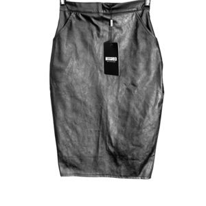 Misguided Leather Mini Skirt